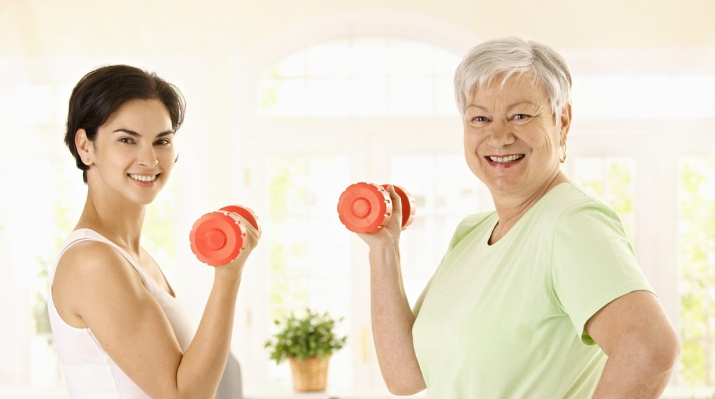 how to exercise with seniors